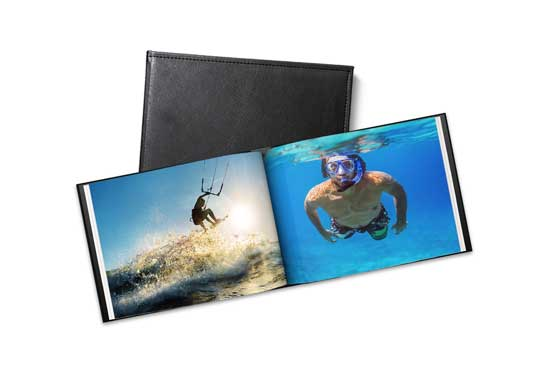 A5 Leather Photo Book (20 pages)|47|cm-18
