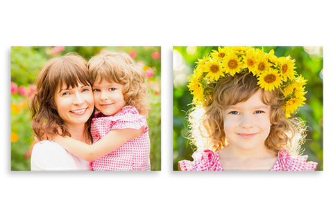 2 Photo Canvases 12'' x 10''
