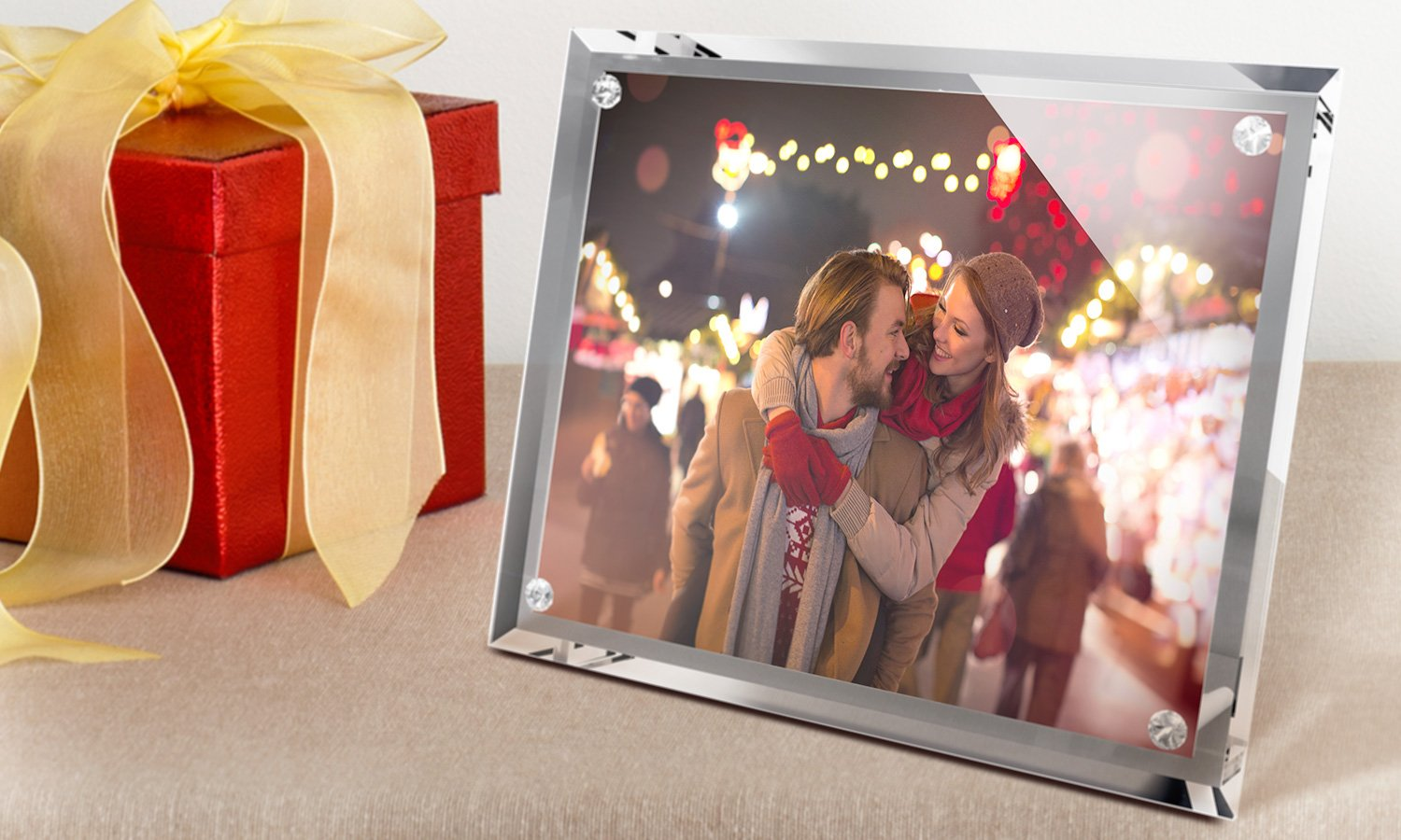 "Crystal Photo Frames 7""x5"" x 3
