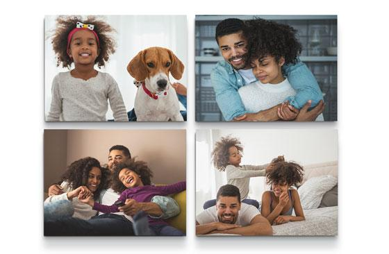 "14"" x 11"" Multi Photo Canvas x 4
