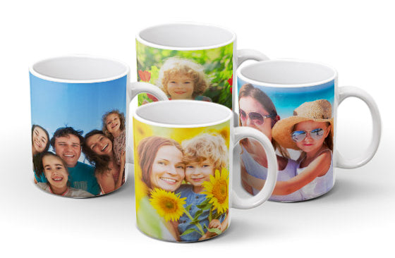 4 Photo Mugs 325ml