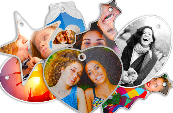 10 Photo Ornaments 5 Shapes