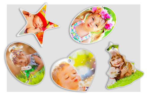 5 Photo Ornaments 5 Shapes