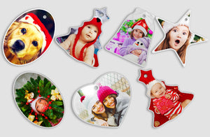 Photo Ornaments x3