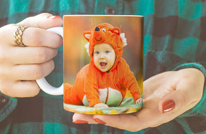 Glass Photo Mugs x4