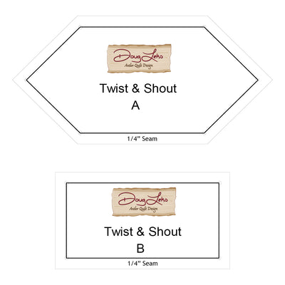 "Twist & Shout Pattern & 1/4"" Seam Templates"