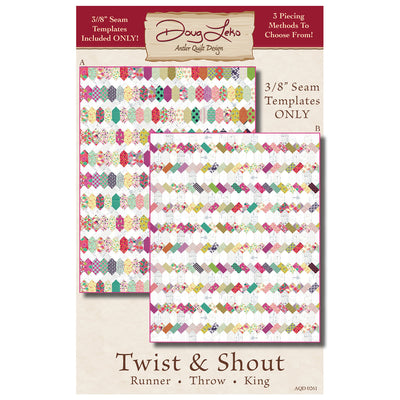 "Twist & Shout Pattern  & 3/8"" Seam Templates"