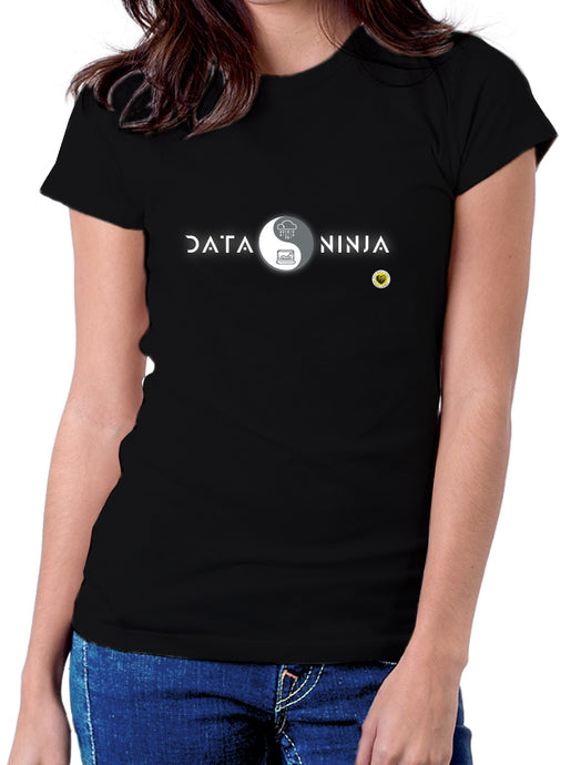 Camisetas Originales Data Science - Data Scientist Ninja 2 Negra - pasionteki.com