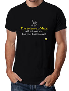 Moda Geek - Camisetas Originales Data Science - Data Scientist Science - Negra - pasionteki.com