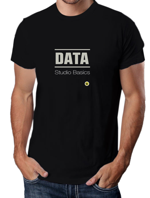 Moda Geek - Camisetas Originales Data Science - Data studio - Negra - pasionteki.com