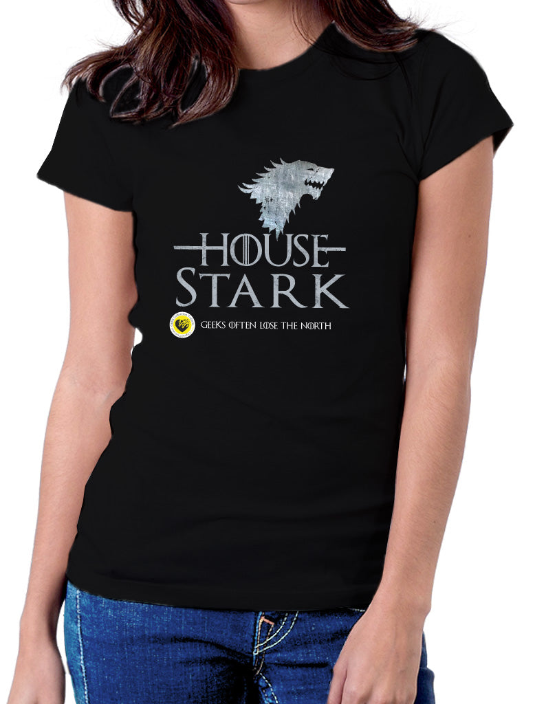 Moda Geek - Camisetas Originales - GEEK GAME OF THRONES - House Stark - pasionteki.com