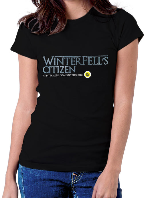 Moda Geek - Camisetas Originales - GEEK GAME OF THRONES - Winterfell's citizen - pasionteki.com