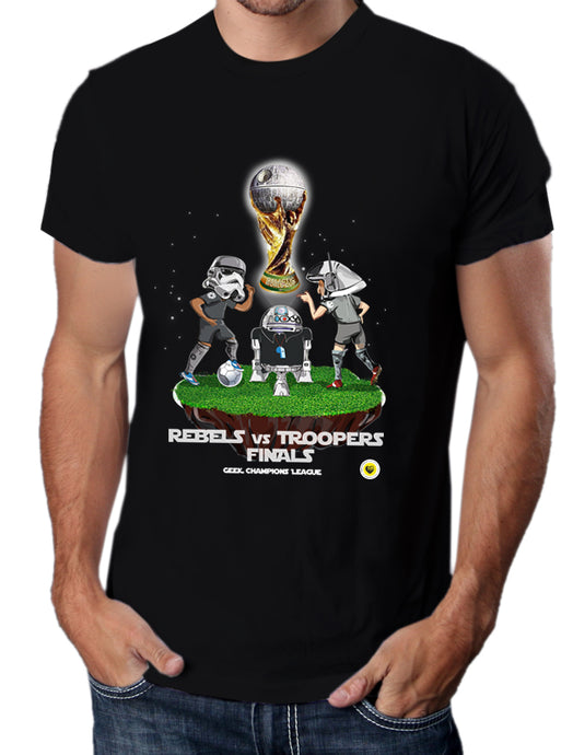 Moda Geek - Camisetas Originales - Rebels vs Troopers - StarWars Soccer - pasionteki.com