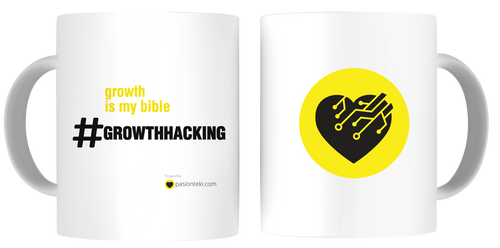 Tazas Personalizadas Growth Hacking - Hashtag Biblia del Growth - pasionteki.com