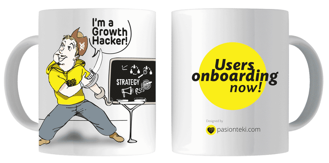 Tazas Originales Growth Hacking - Modelo Pirata - pasionteki.com
