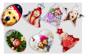 10 Photo Ornaments|5 Shapes: Bell, Heart, Oval, Star and Tree|85|cm-18