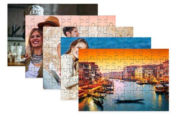 "5 Wooden Photo Puzzle - 10"" x 7""