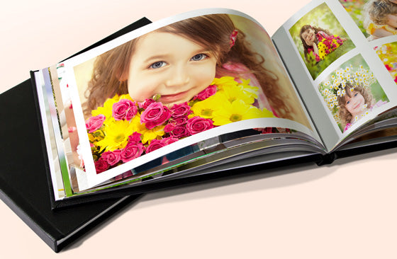 "11"" x 8.5"" Leather Photo Book  (40 Pages) 