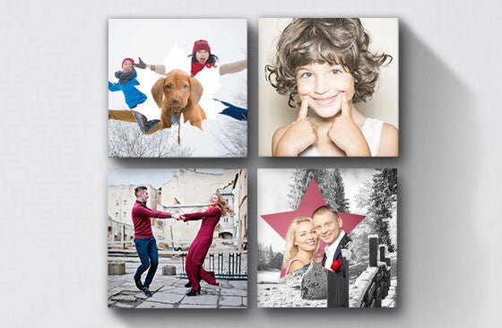 "12"" x 12"" Multi Photo Canvas x 4