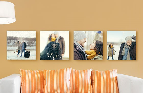 "8"" x 8"" Multi Photo Canvas x 4