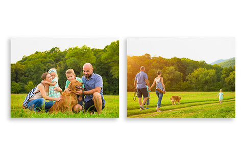 2 Photo Canvases 16'' x 12''
