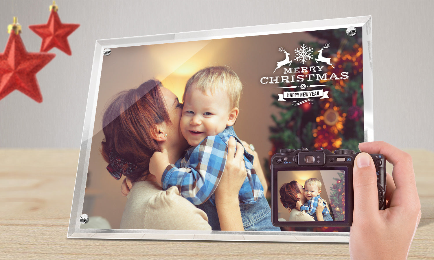 "Crystal Photo Frames 10""x8"" x 5