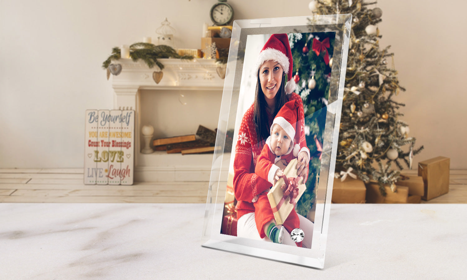 "Crystal Photo Frames 7""x5"" x 5