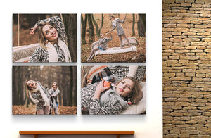 "16"" x 12"" Photo Canvas x 4