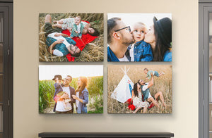 "14"" x 11"" Photo Canvas x 4