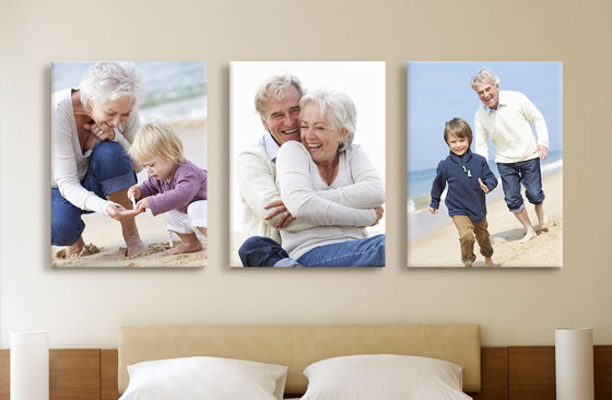 "12"" x 16"" Photo Canvas x 3