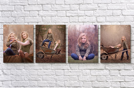 "8"" x 10"" Multi Photo Canvas x 4