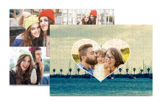 2 Wooden Photo Puzzles 10'' x 7''