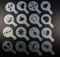 16pcs Coffee Design Stencils