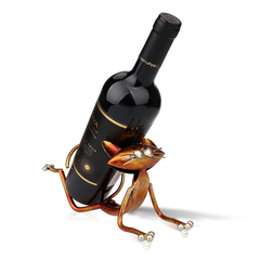 Yoga Cat Metal Wine Holder