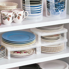 Multifunctional Overlapping Bowl Plate Storage Shelf