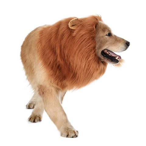 Dog Lion Mane - Realistic & Funny Lion Mane for Dogs - Complementary Lion Mane for Dog Costumes - Lion Wig for Medium to Large Sized Dogs Lion Mane Wig for Dogs - Halloween