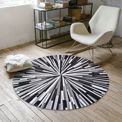 Geometric Splash Round Carpet