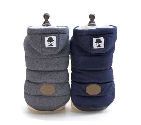 Winter Warm Pet Dog Clothes Hooded Jackets