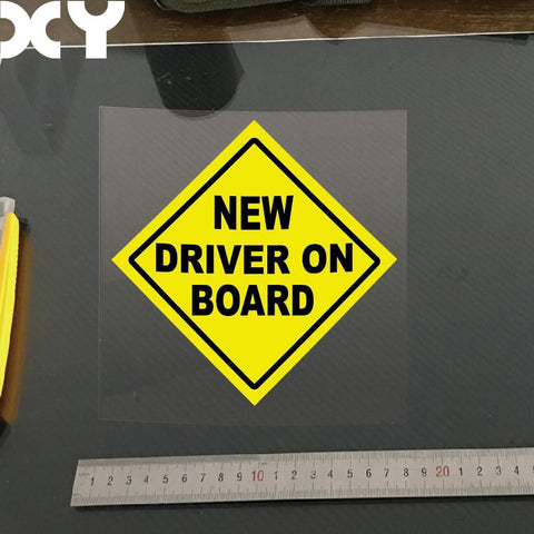 """New Driver"" Warning Car Decal"