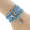 "Image of ""Nurse"" Leather Wrist Bracelet"