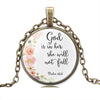 "Image of ""God Is With Her"" Inspirational Necklace"