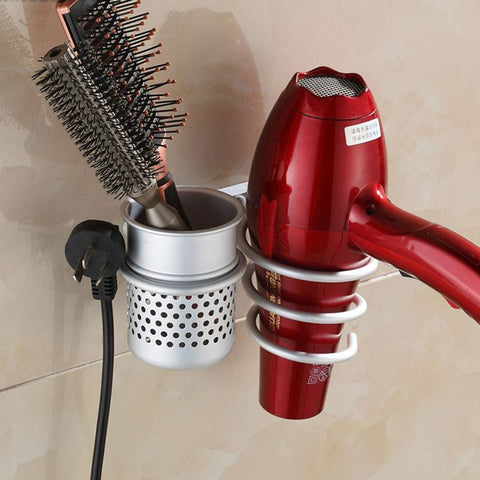 Mounted Hair Dryer Comb Rack