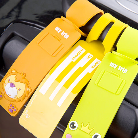 Kids Suitcase Reusable Straps Cartoon Tags