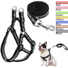 Image of No Pull reflective nylon dog harness leash set