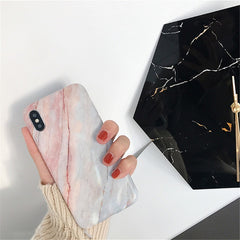 Marble Case For Iphone 8 7 Plus X 6 S Plus Case Fashion Grip Stand Holder Silicone Soft Phone Case For Iphone 7 Back Cover Coque