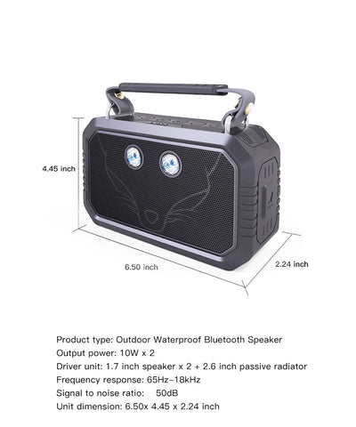 2-in-1 Waterproof Bluetooth Speaker and Flashlight