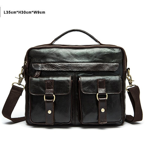 THE COURIER - LEATHER BRIEFCASE