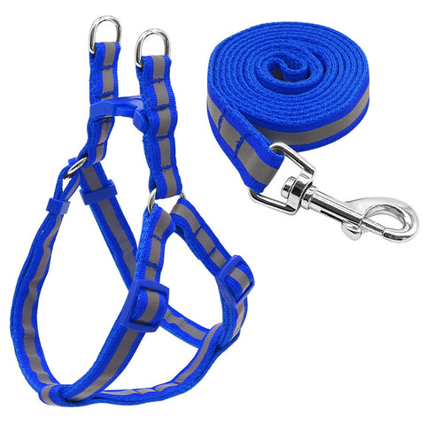 No Pull reflective nylon dog harness leash set