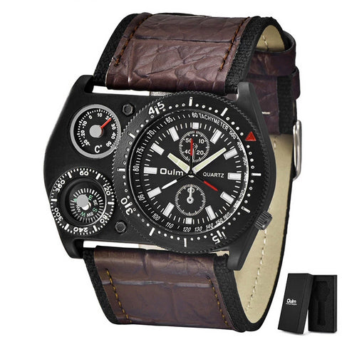 Compass Thermometer Wristwatch