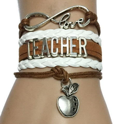 """Teacher"" Leather Wrist Bracelet"